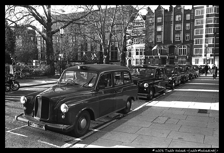 Taxi line, London, UK; (Click for next photo)